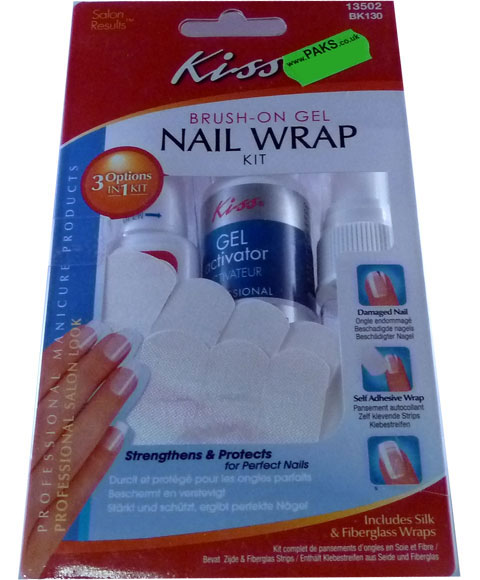 nail polish n enamel | Kiss Brush On Gel Nail Wrap Kit BK130 ...