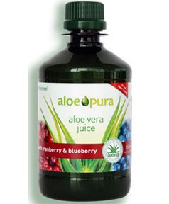 Aloe Pura Aloe Vera Juice With Cranberry And Blueberry