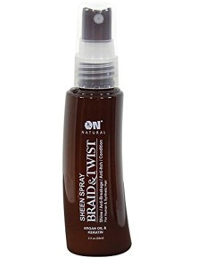 On Natural Argan Oil And Keratin Braid And Twist Sheen Spray