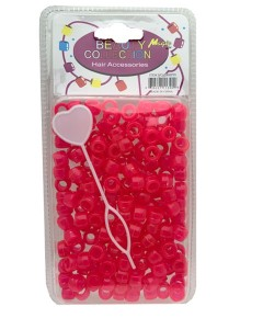 Hair Beads Mix Pink 200HPIN