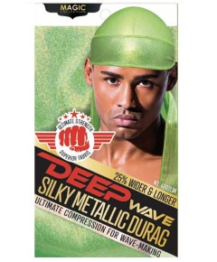 Magic Collection Deep Wave Silky Metallic Durag 4802LIM