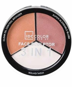 IDC Color Face Sculptor 3 In 1 Sand Bronzer And Highlight Powder