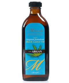Natural Original Jamaican Black Castor Oil With Argan