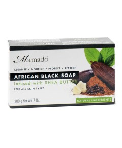 African Black Soap Infused With Shea Butter