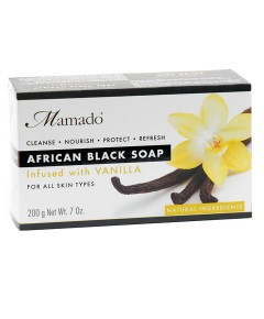African Black Soap Infused With Vanilla