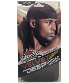Magic Collection Superstar Velvet Deep Wave Durag 4803BLA