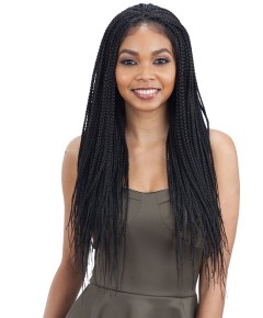 5 X 5 Braided Lace Wig Box Braids