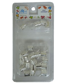 Murry Collection Metal Tube Clip Silver MA40S
