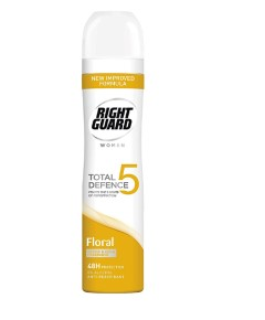 Right Guard Women Total 5 Defence Floral Power Anti Perspirant 48Hrs