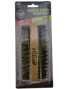 Titan Double Sided Military Brush Hard And Soft 7746