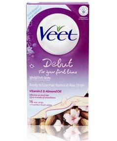 Veet Debut Hair Removal Wax Strips