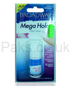 Broadway Mega Hold Pink Nail Glue BPG310C
