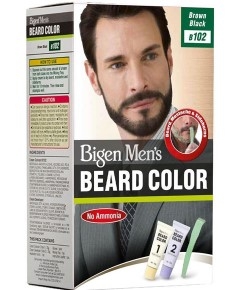 Mens Beard Colour Brown Black B102