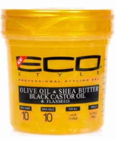 Eco Styler Gold Olive Shea Butter Black Castor And Flaxseed Gel