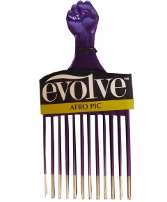 Evolve Afro Pic Metallic Purple 494