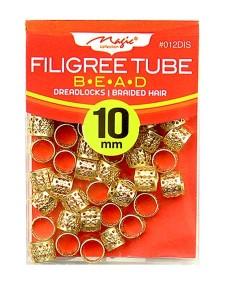 Magic Collection Filigree Tube Bead 012DIS Golden