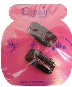 Gossip Black Weaving Clips 2Pcs