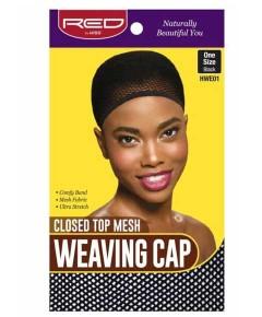 Closed Top Mesh Weaving Cap Black HWE01