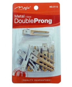 Magic Collection Metal Double Prong Clips 3112