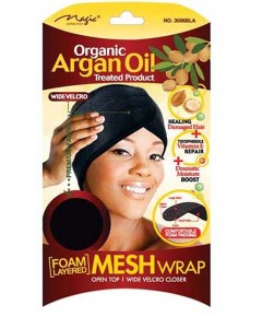 Magic Collection Organic Argan Oil Mesh Wrap 3006BLA