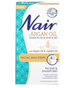Nair Argan Oil Facial Wax Strips