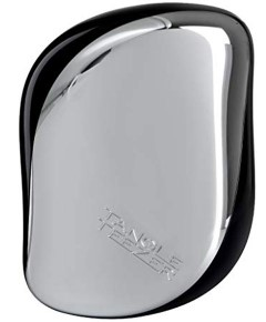 On The Go Detangling Hairbrush Compact Styler Silver Star