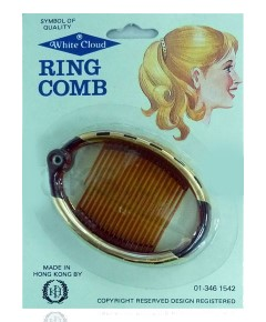 White Cloud Oval Ring Comb