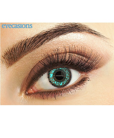 Fashion Lenses Eye Spy Two Tone Aqua Contact Lens